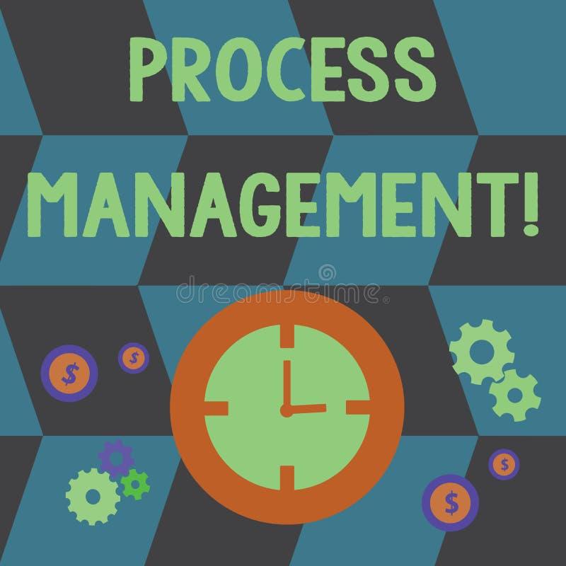 Palabra que escribe la gestión del proceso del texto El concepto del negocio para los procesos que alinean con una organización s ilustración del vector