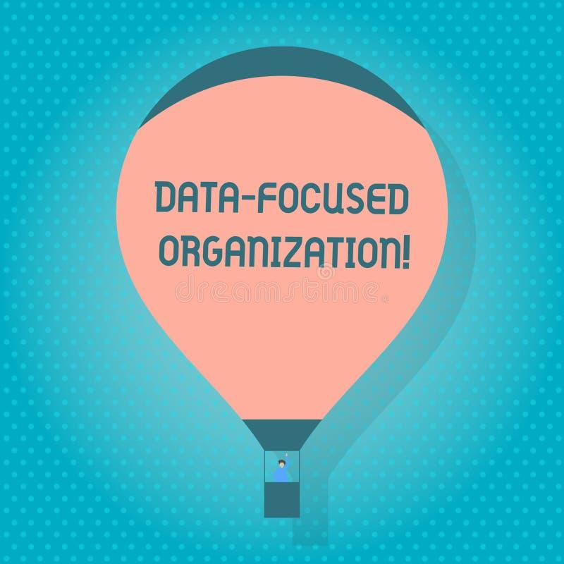 Palabra que escribe la organización enfocada datos del texto Concepto del negocio para la captura y reforzar el valor de sus info ilustración del vector