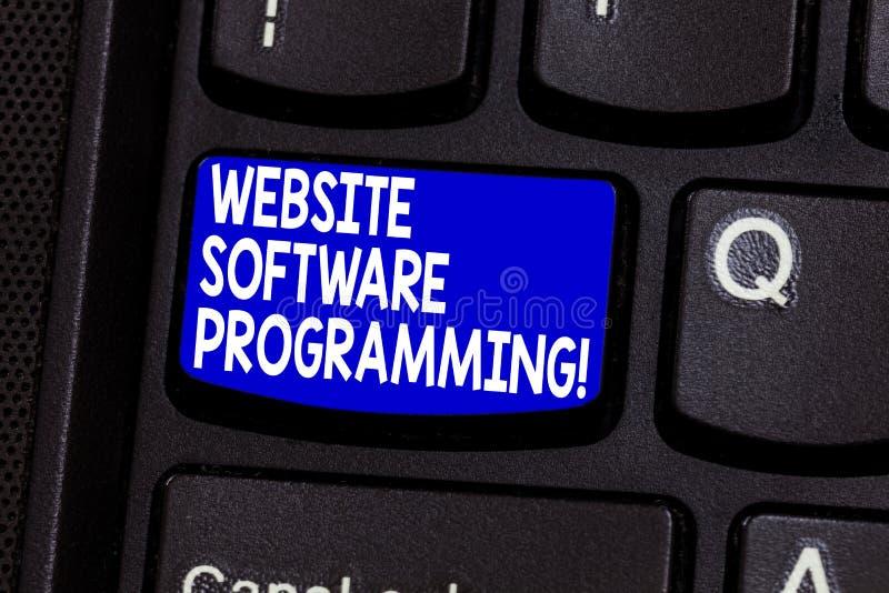 Palabra que escribe la programación de la página web del texto Concepto del negocio para cifrar o programar que permite el teclad imagenes de archivo
