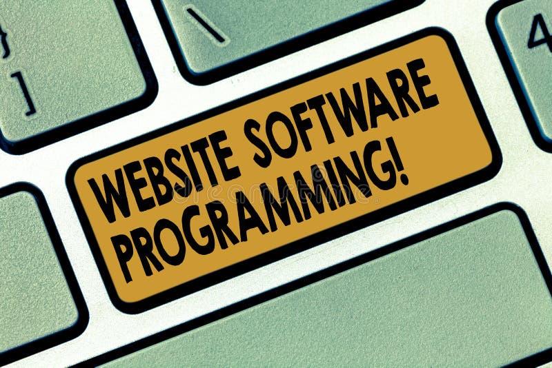 Palabra que escribe la programación de la página web del texto Concepto del negocio para cifrar o programar que permite el teclad fotos de archivo