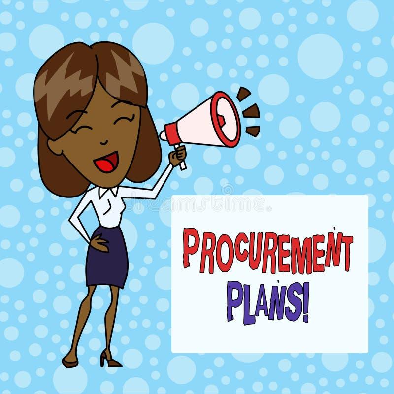 Palabra que escribe planes de la adquisici?n del texto Concepto del negocio para determinar los calendarios para su adquisici?n ilustración del vector