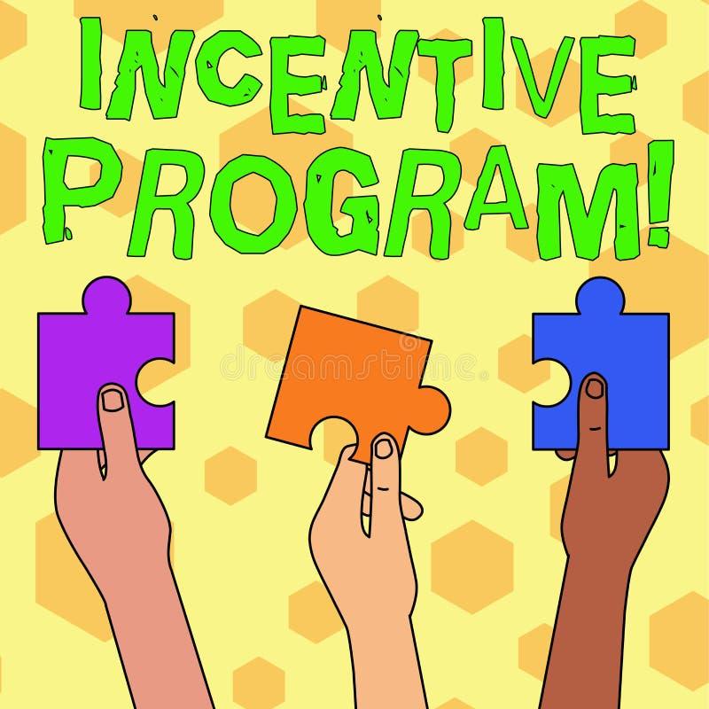 Palabra que escribe a texto el programa incentivo Concepto del negocio para el esquema específico usado para promover la cierta a libre illustration