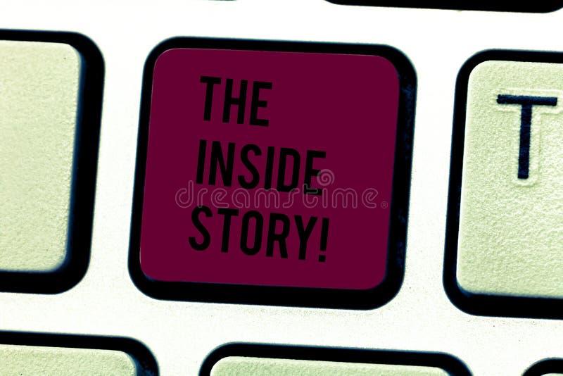 Palabra que escribe a texto la historia interior Concepto del negocio para la información que es solamente el mostrar sabido impl imagen de archivo libre de regalías