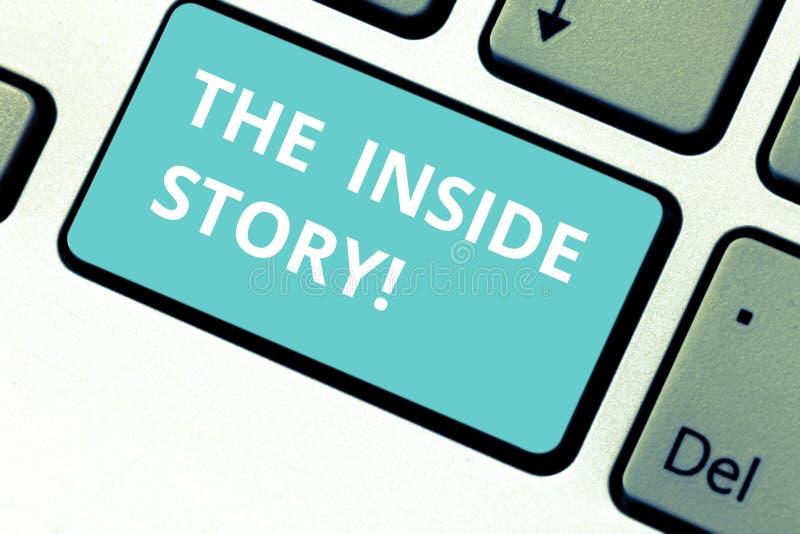 Palabra que escribe a texto la historia interior Concepto del negocio para la información que es solamente el mostrar sabido impl fotos de archivo libres de regalías