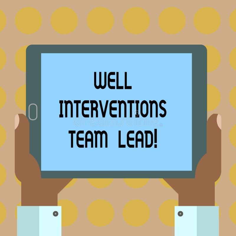 Palabra que escribe a texto las intervenciones bien Team Lead Concepto del negocio para la industria petrolera del petróleo y gas stock de ilustración