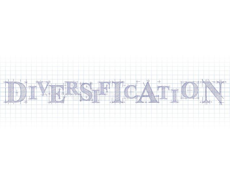 Palabra técnica de la diversificación ilustración del vector