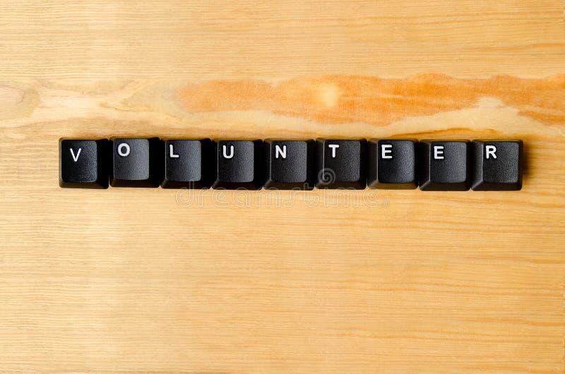 Palabra voluntaria fotos de archivo