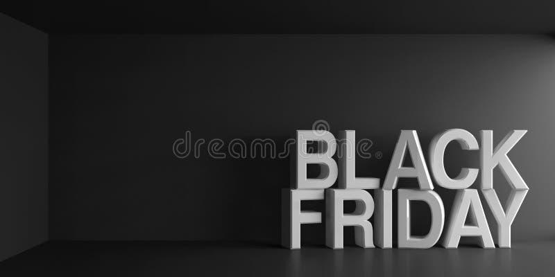 Palabras blancas Black Friday libre illustration