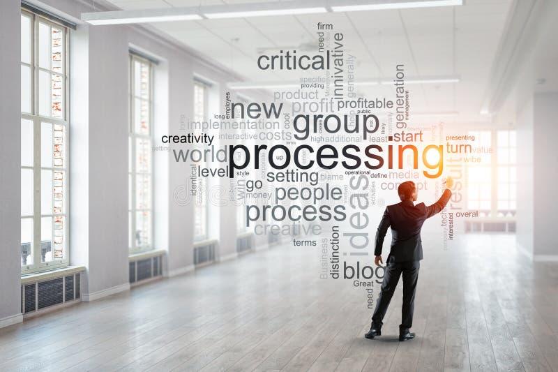 Palabras claves para el concepto eficaz del negocio Técnicas mixtas libre illustration