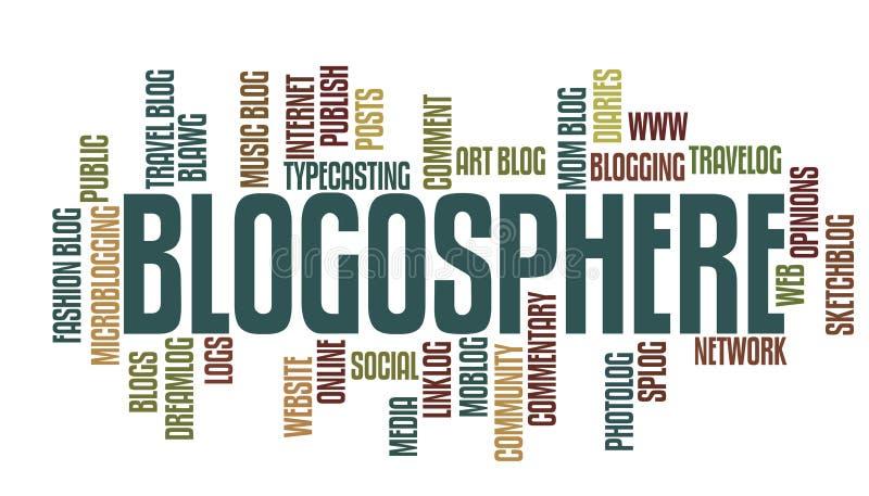 Palabras de Blogging stock de ilustración