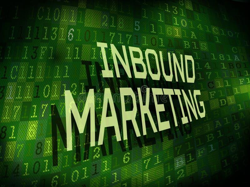 Palabras de entrada del márketing aisladas en fondo digital ilustración del vector