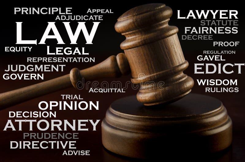 Palabras de la ley foto de archivo libre de regalías