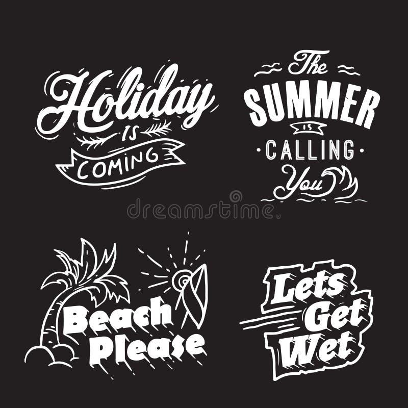Palabras de la tipograf?a y del d?a de fiesta del verano libre illustration