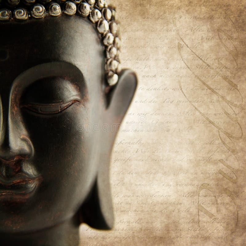 Palabras del grunge de Buddha imagen de archivo