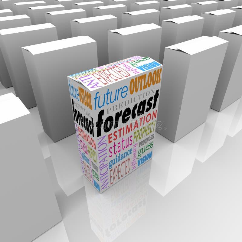 Palabras futuras de la dirección de la perspectiva del pronóstico en la caja única entre muchos libre illustration