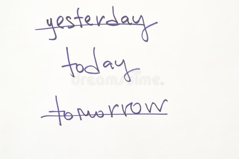 Palabras para la motivación al principio del día foto de archivo
