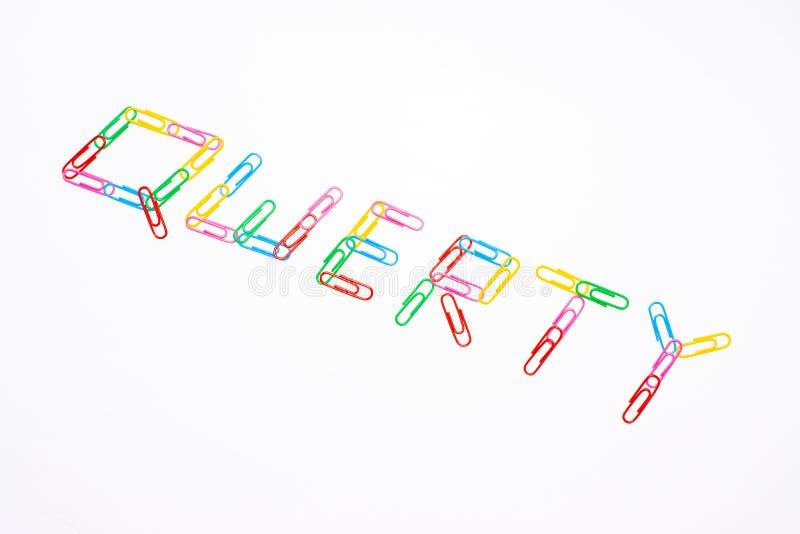 palabras qwerty foto de archivo libre de regalías