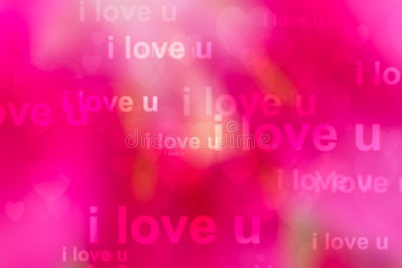 Palabras te quiero como fondo rojo fotografía de archivo libre de regalías
