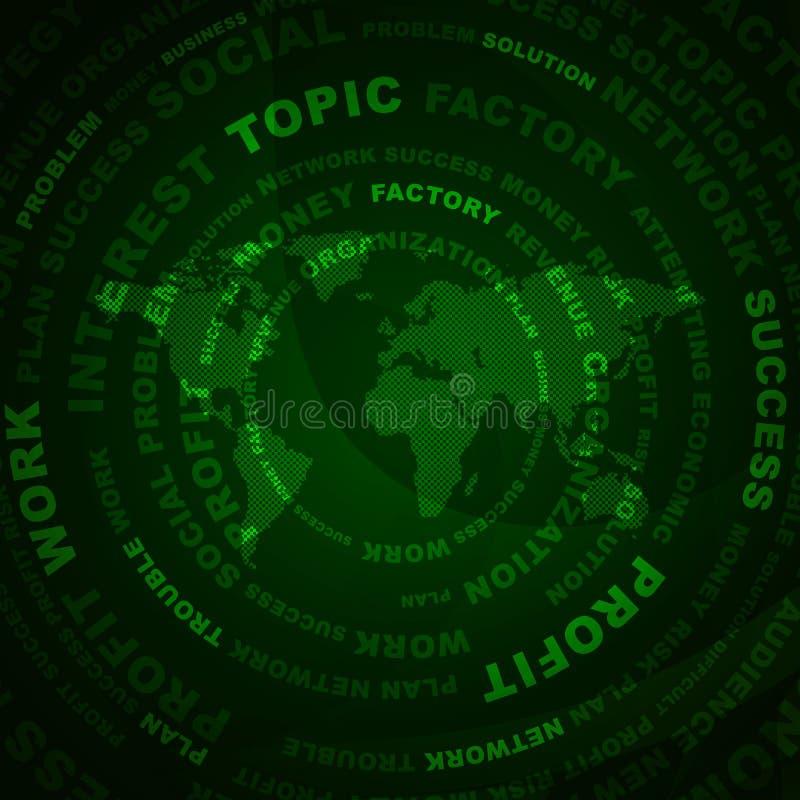 Download Palabras Y Mapa Del Mundo Del Negocio Stock de ilustración - Ilustración de fábrica, ilustración: 42425575