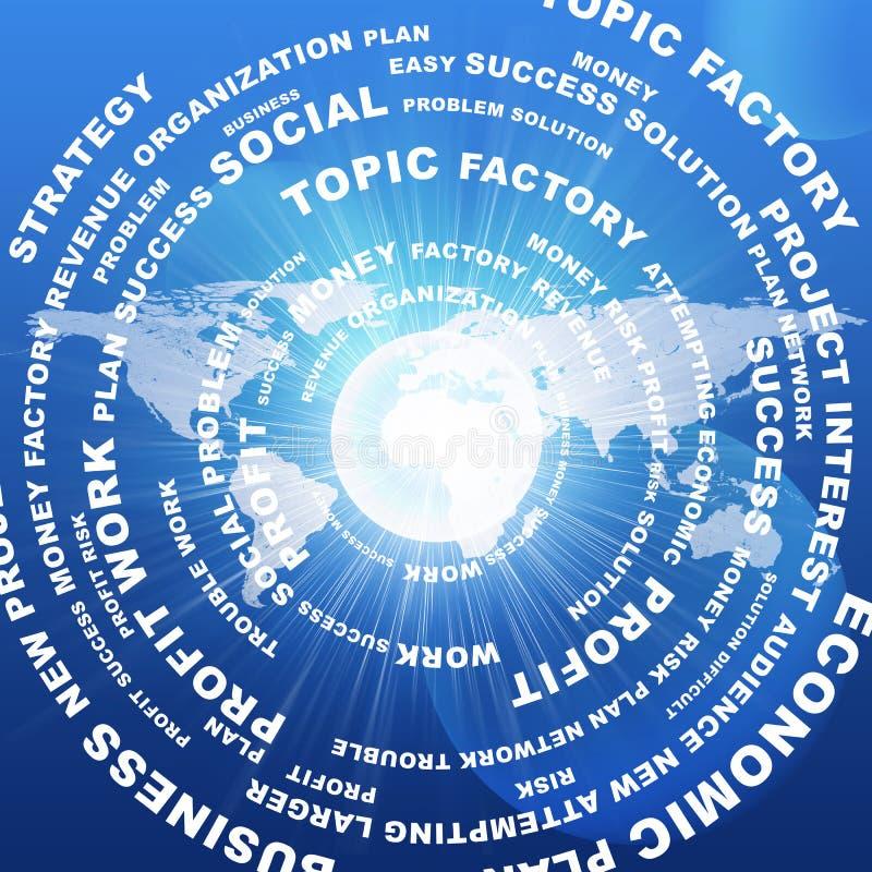 Download Palabras Y Mapa Del Mundo Del Negocio Stock de ilustración - Ilustración de símbolo, plan: 42425582