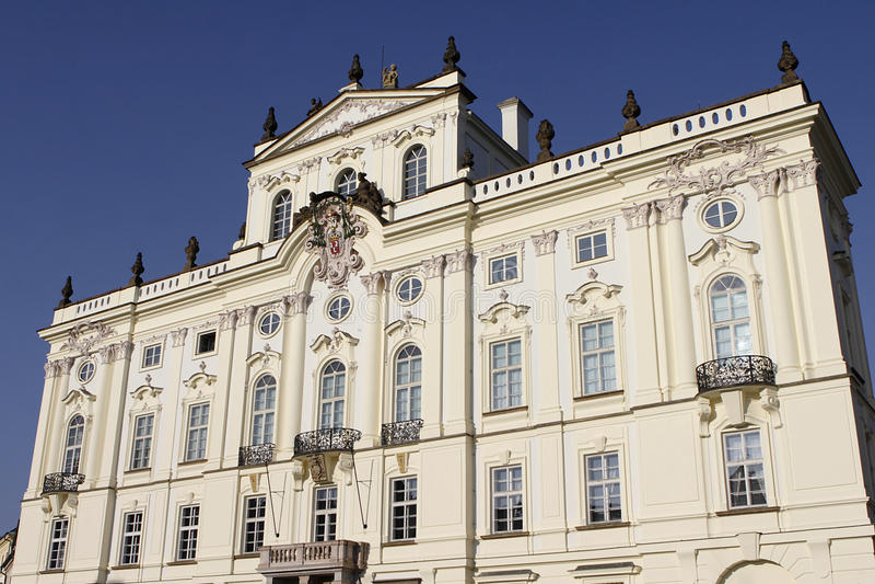 palace大主教在布拉格 免版税图库摄影