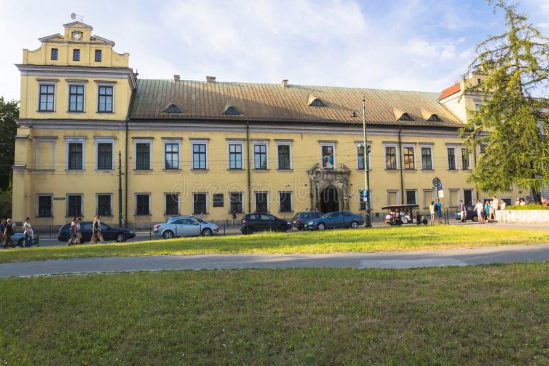 palace主教的在克拉科夫 免版税库存照片