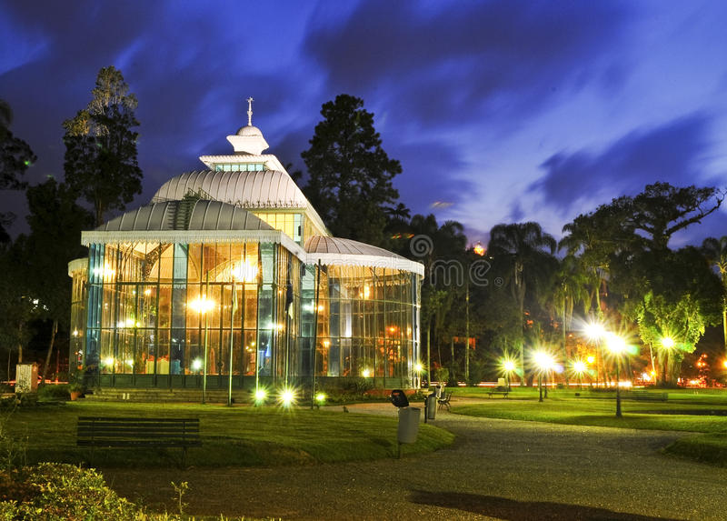 Palace. The Cristal Palace, in Petropolis, Rio de Janeiro, an important landmark from the empire time of Brazil. Listed by the National Institute of Historic and royalty free stock image