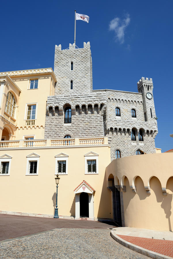 Palace. Prince's Palace (Chateau Grimaldi) in Monaco royalty free stock photos