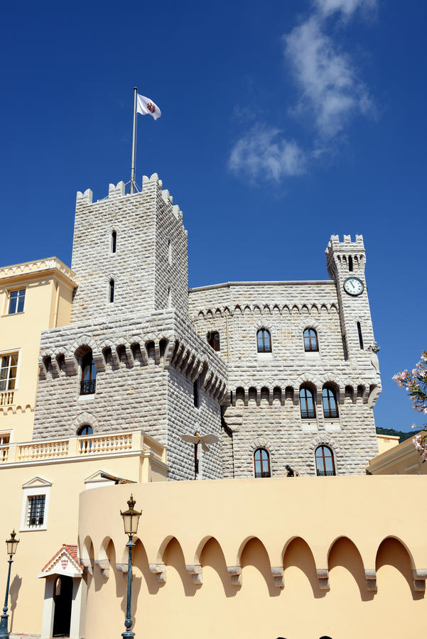 Palace. Prince's Palace (Chateau Grimaldi) in Monaco royalty free stock photography
