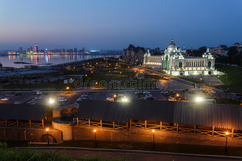 Palace of agriculture and the embankment of the Volga in Kazan.  royalty free stock photos