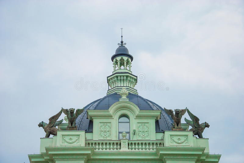 Palace of agriculture in Kazan stock photography