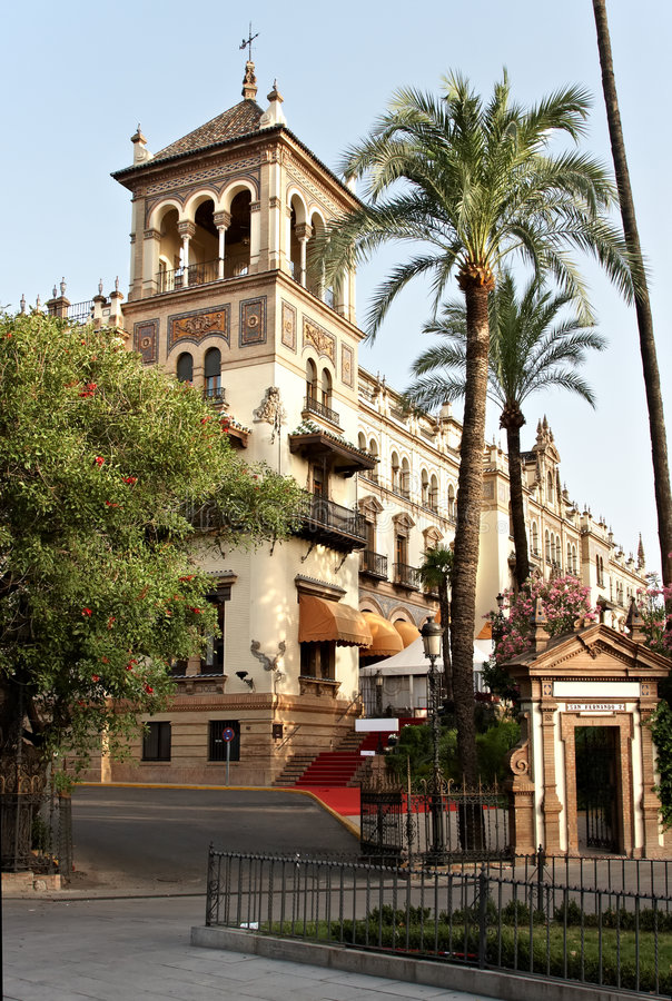 Palace of Alfonso XIII stock photography