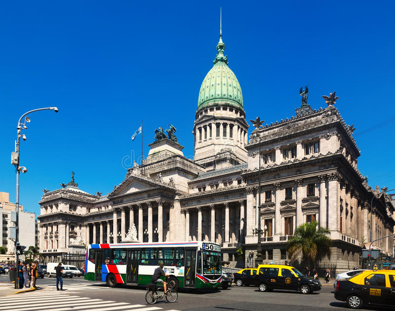 Palace of the Argentine National Congress stock photography