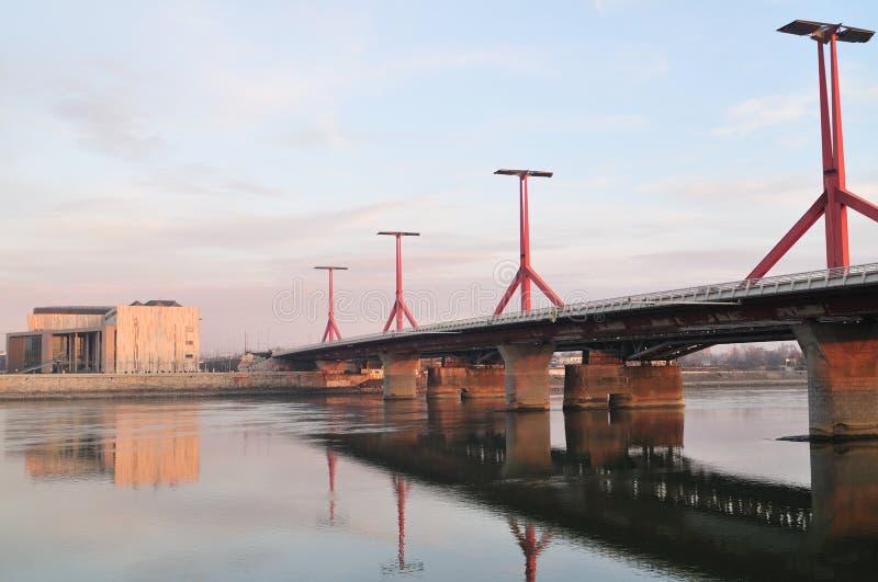 Palace of Arts and bridge stock image