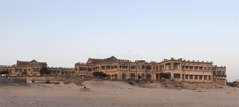 Palace on the beach stock photo