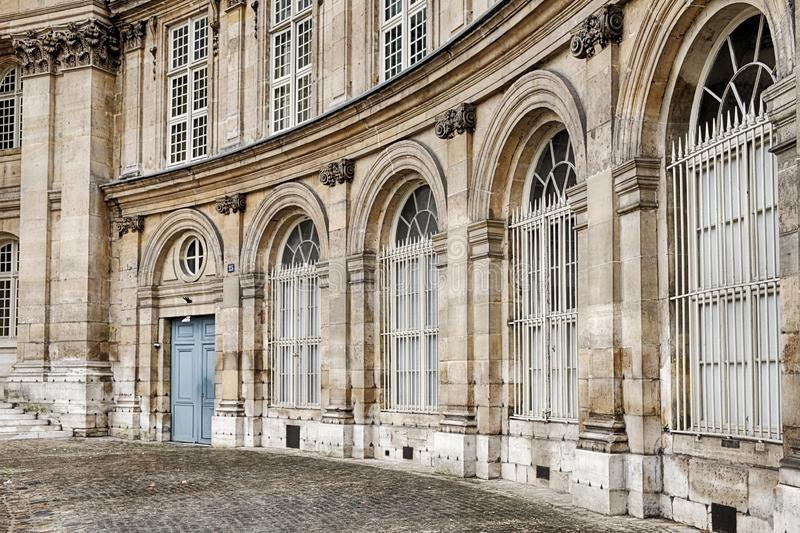 Palace With Blue Side Door In Paris royalty free stock images