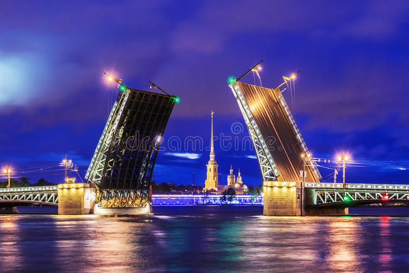 Palace Bridge in St. Petersburg stock photography