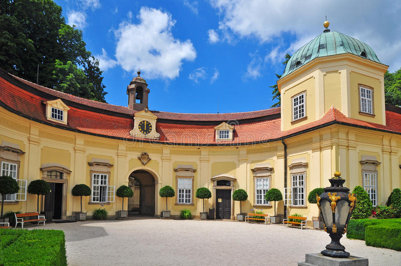 Palace Buchlovice royalty free stock images