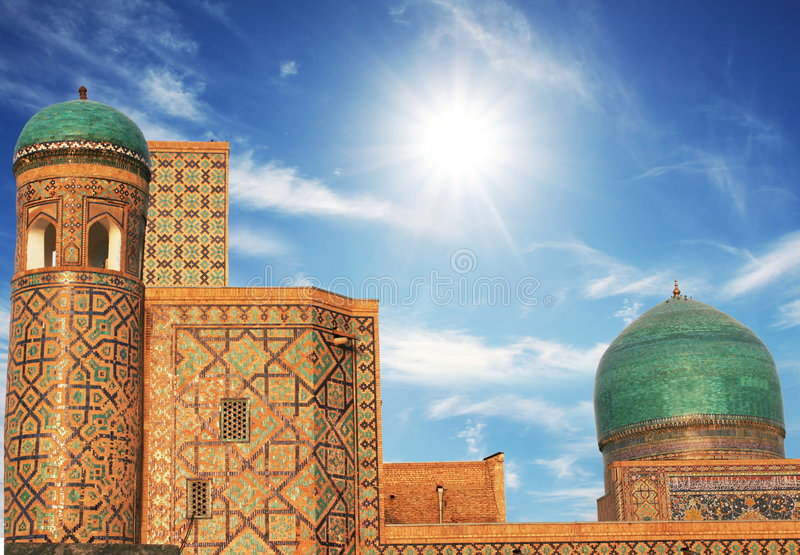 Palace in Bukhara stock photography