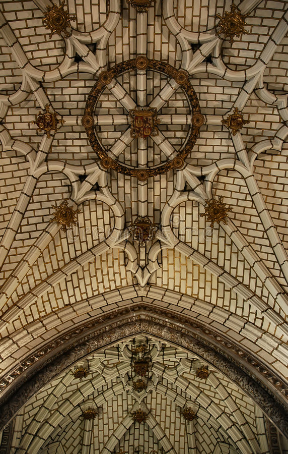 Palace ceiling stock images
