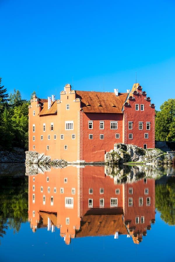 Palace Cervena Lhota, Czech Republic. Outdoors, outside, exteriors, europe, central, eastern, czechoslovakia, bohemia, architecture, building, castle, history stock photography