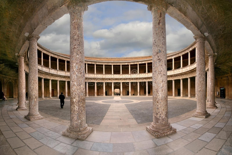 Palace of Charles V royalty free stock images