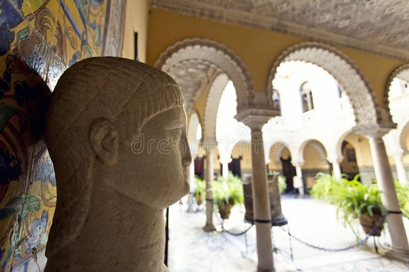 Palace of the Countess of Lebrija in Seville royalty free stock images