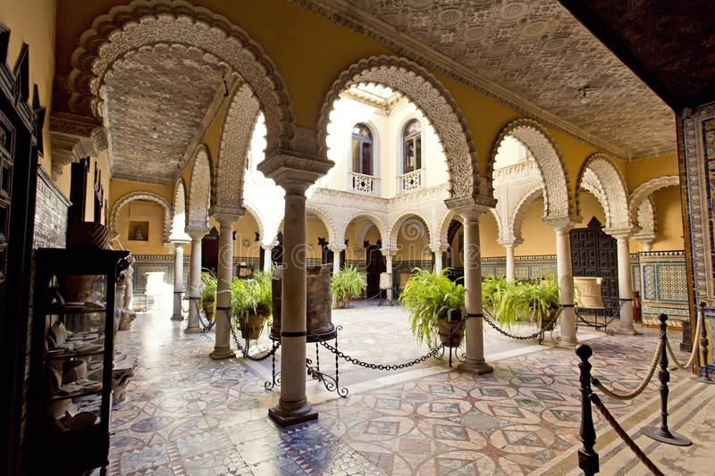 Palace of the Countess of Lebrija in Seville royalty free stock photography