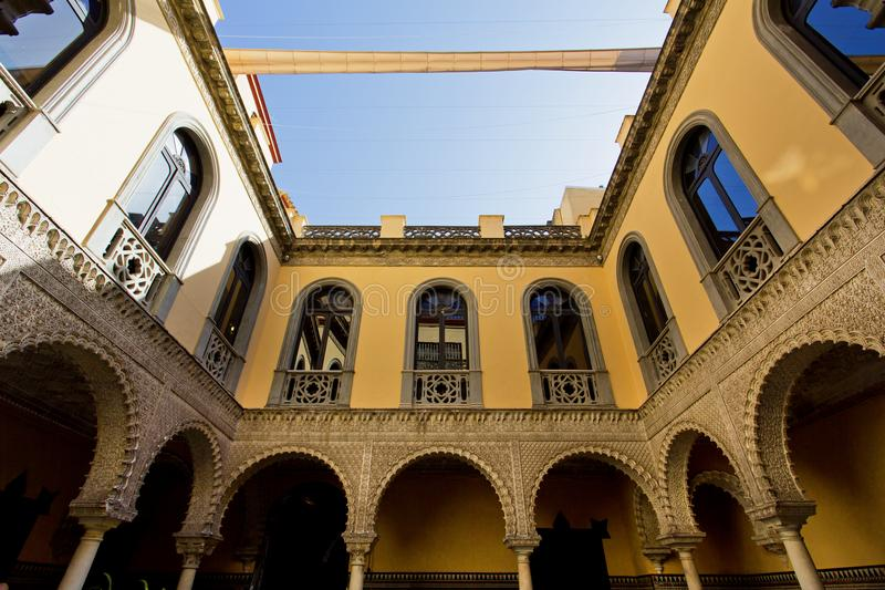 Palace of the Countess of Lebrija in Seville stock image