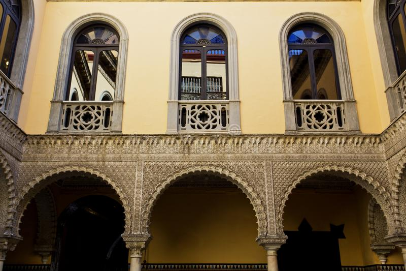 Palace of the Countess of Lebrija in Seville stock photo