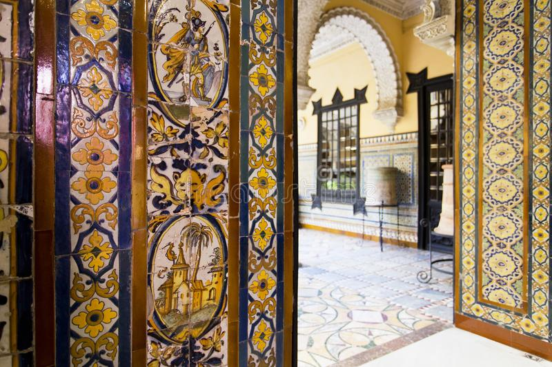 Palace of the Countess of Lebrija in Seville stock images