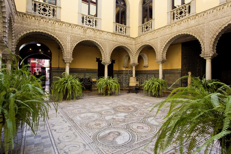Palace of the Countess of Lebrija in Seville royalty free stock photo