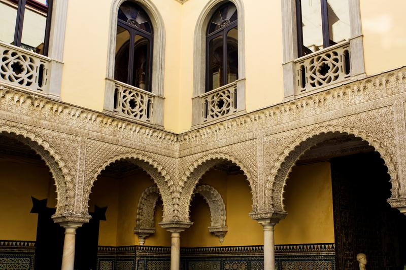 Palace of the Countess of Lebrija in Seville royalty free stock image