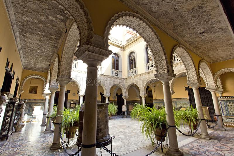Palace of the Countess of Lebrija in Seville stock photography
